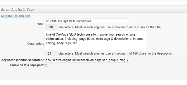 Page Title, Meta Description and Meta Tags