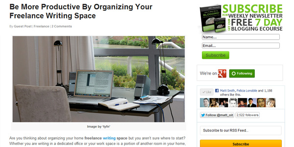 Be More Productive By Organizing Your Freelance Writing Space