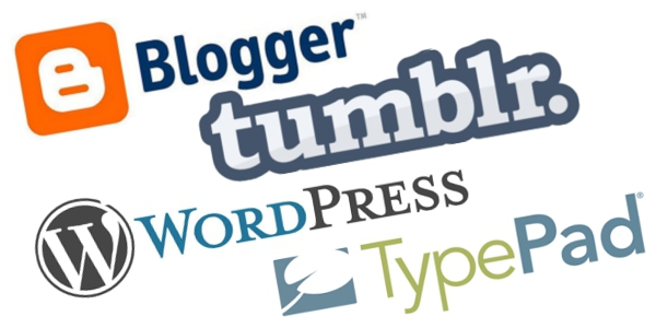 Blogger, WordPress, Tumblr, TypePad