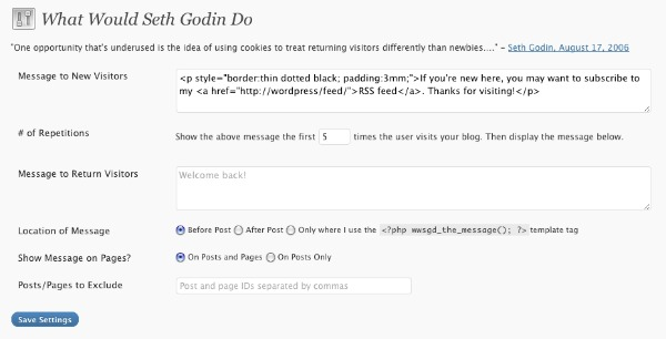 Free WordPress Plugin - What Would Seth Godin Do