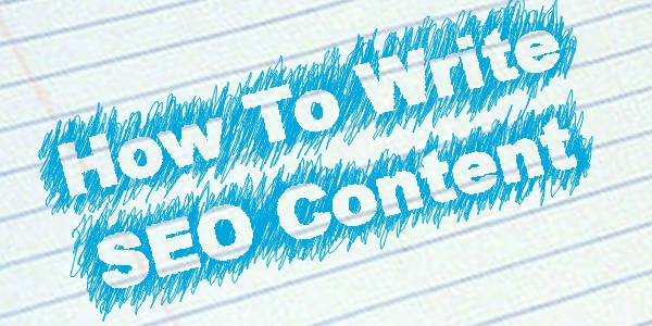 How to write content for SEO and optimize it