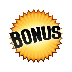 Bonus Burst Badge Orange