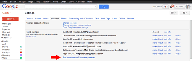 Gmail - Send Mail As