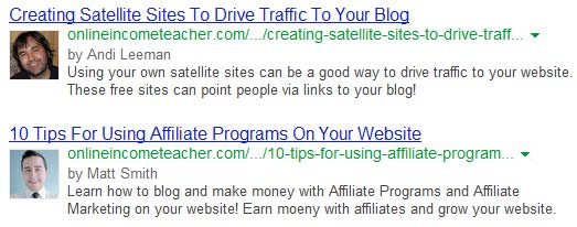 Setup Google Authorship
