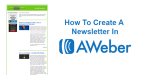 How To Create A Newsletter In AWeber