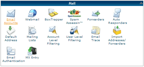 cPanel - Email Accounts