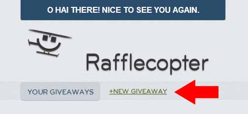 Rafflecopter New Giveaway