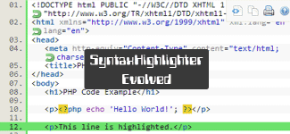 SyntaxHighlighter-Evolved